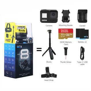 Câmera Digital Gopro Bundle Hero8 Black Preto 12.0mp